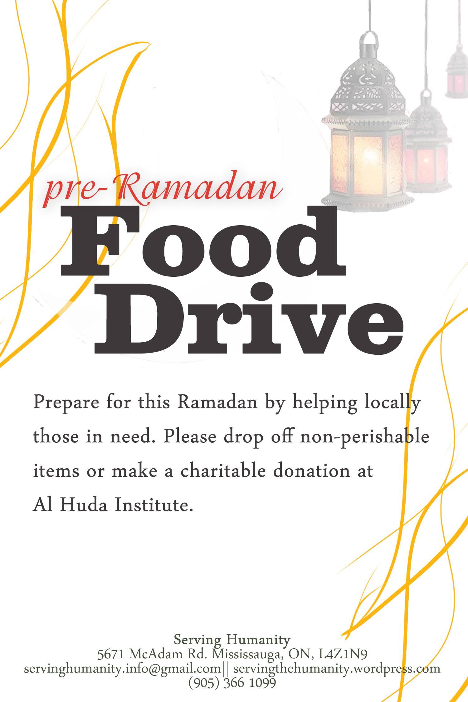 Pre Ramadan Food Drive - JULY 2012
