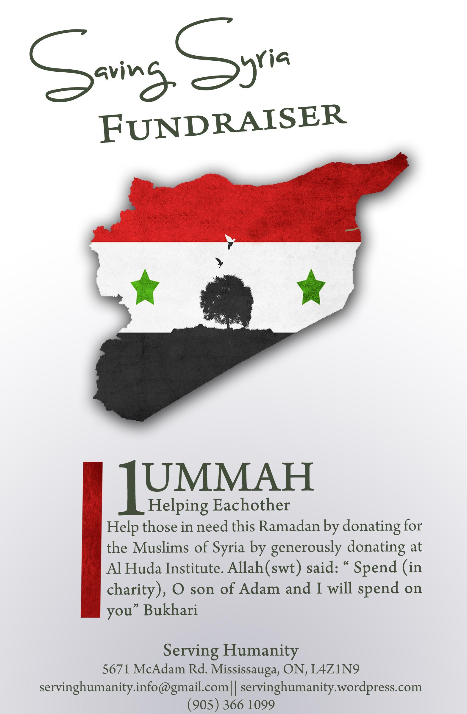 SAVING SYRIA FUNDRAISER!