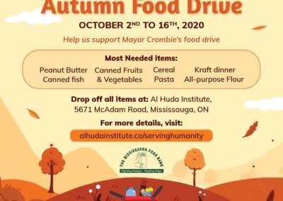 Autumn Food Drive 2020